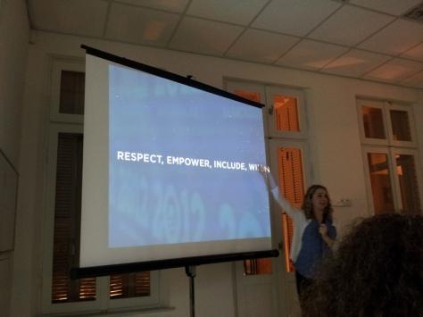 Respect, Empoer, Include, Win