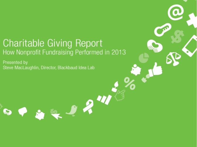 מקור: Blackbaud Charitable Giving Report 2013