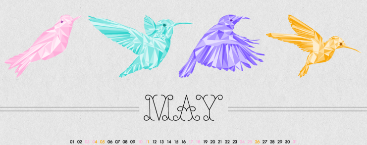 Birds Of May, Designed by Clarity Creative Group , Smashing Magazine's Desktop Wallpaper Calendars: May 2014