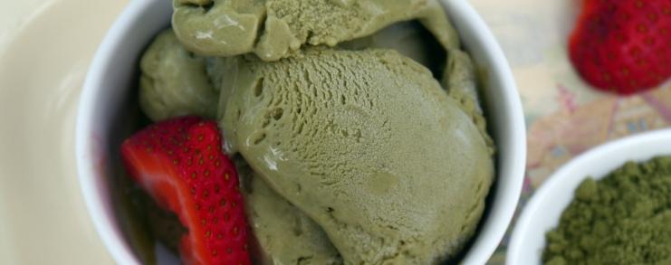 גלידת תה ירוק טבעונית