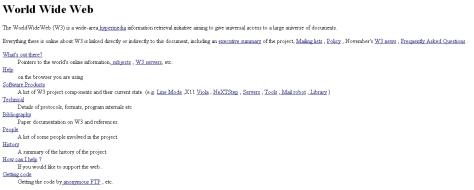 First www website screenshot