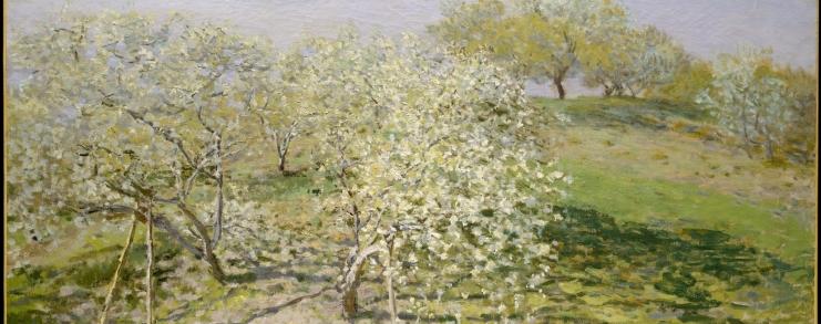 Spring (Fruit Trees in Bloom), Claude Monet
